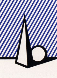 Roy Lichtenstein, Figure with Trylon and Perisphere, 1977