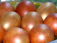 Oua de Paste aurii si aramii