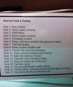 How To Turkey A Cook, very funny and just in holidays for the time