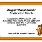 A cute fall-based calendar pack that includes calendar cards that are in an ABAB pattern. You will also find 4 HOTS questions that you can use to...free