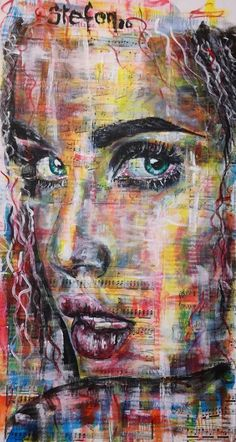 acrylic painting on old book pages glued to cardboard for book covers 60 x 30 50 € Old Book Pages, Old Books, Art Journal Pages, Book Covers, Portrait, Artist, Painting, Antique Books, Headshot Photography