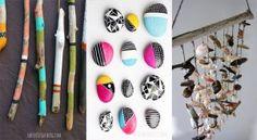 10 bricolages à réaliser avec des coquillages, des galets ou encore du bois flotté Crafts, Diy, Pastels, Simple, Inspiration, Driftwood Mobile, Easy Decorations, Bees, Do It Yourself