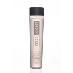 MOISKIN REMOV.D.MAQUI.OLHO                               Código: 106489 Removedor de Maquiagem para todo tipo de pele. Remove a maquiagem delicadamente sem deixar a pele com aspecto oleoso. Contém ingredientes de origem botânica, que hidratam e condicionam a pele.