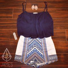 We are ready for hot summer days! High Waisted Shorts and Crop Tops!  Jame's Clothing Boutique