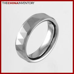 6MM SIZE 13 FACETED TUNGSTEN CARBIDE BAND RING R0920