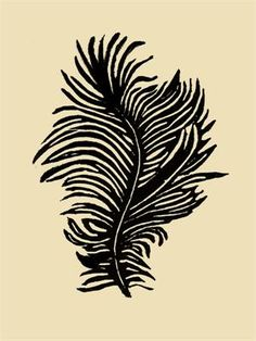 Feather Print by Jennifer Ament.