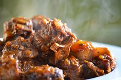 Ox Tail Stew / @Nom Nom Paleo A great dish, when your craving something jamaican. goes well with plantains, rice and peas and macaroni. always tell the cook, extra gravy. yum