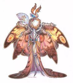 A Perqui noblewoman (see Mekton Empire p.48). :-) commission - moth by drachenmagier.deviantart.com on @DeviantArt