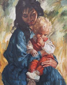 Mother And Child, Children, Drawings, Painting, Art, Mother Son, Young Children, Art Background, Boys
