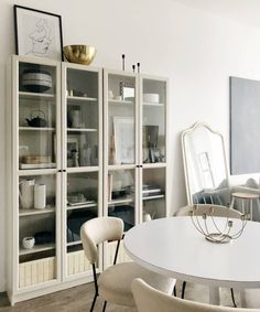 super ideas for ikea storage ideas billy bookcases apartment therapy Ikea Kitchen Cabinets, Kitchen Cabinet Handles, Tv Cabinets, Ikea China Cabinet, Libreria Billy Ikea, Billy Ikea Hack, Billy Oxberg, Ikea Dining Room, Dining Room Storage