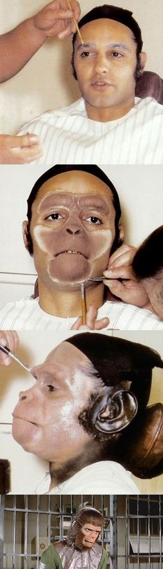 Sal Mineo in makeup for 'Milo' in Escape from the Planet of the Apes (1971)