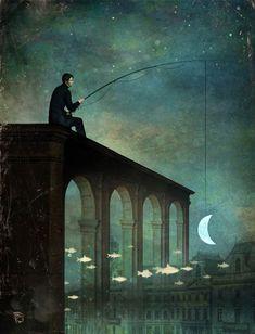 Las poéticas y surreales pinturas de Christian Schloe - Antidepresivo