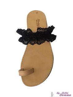 La Bella Donna - Χειροποιητα δερματινα σανδαλια - Black Lace Palm Beach Sandals, Jack Rogers, Shoes, Fashion, Moda, Zapatos, Shoes Outlet, Fasion, Footwear