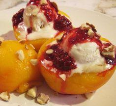 Peach Melba Recipe. Click image for recipe.