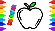 Apple Coloring Pages | How to Draw Apple | Apple Painting