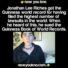 And that's how he got that record.