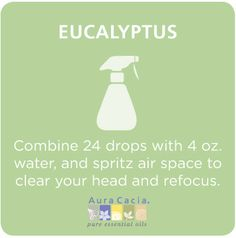#eucalyptus room spray #aromatherapy.  And why are we finding out about this now?