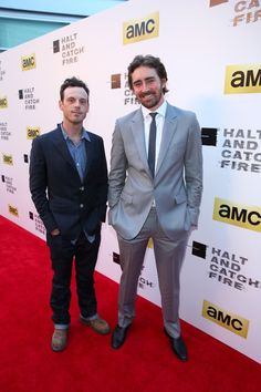 Lee Pace Photos Photos - Actors Scoot McNairy (L) and Lee Pace attend AMC's new series 'Halt And Catch Fire' Los Angeles Premiere at ArcLight Cinemas on May 21, 2014 in Hollywood, California. - 'Halt and Catch Fire' Premieres in Hollywood