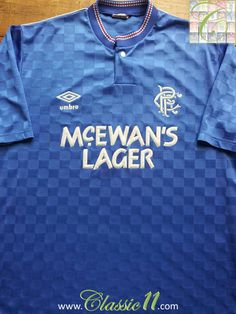 08370d7c8c5 Relive Glasgow Rangers  19987 1988 season with this vintage Umbro home  football shirt.