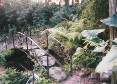 Custom Made Oriental Stepping Stone Bridge by Metals & Nature