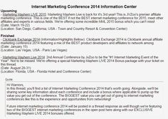 Internet Marketing Conference 2015 Best Tents For Camping, Cool Tents, Best Buy Coupons, Fast Metabolism Diet, Information Center, Affiliate Marketing, Internet Marketing, Martial Arts, Conference