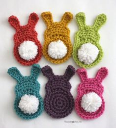 Crochet Bunny Silhouette Appliques - Repeat Crafter Me
