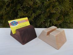 Wood business card holder Credit card case by WoodpeckerLG on Etsy