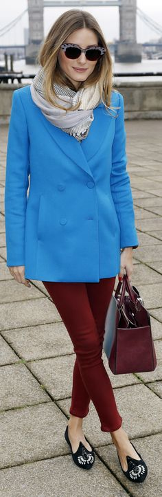 Olivia Palermo's unexpected color combo actually looks amazing, right?
