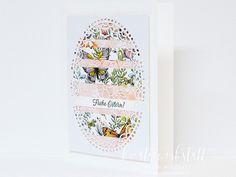 Kreativwerkstatt Karin Müller – unabhängige Stampin' Up! Demonstratorin, Ostergrüße 2 Baby, Fancy, Up, Man Card, Book Folding, Happy Easter, Gift Cards, Holidays, Mosaic