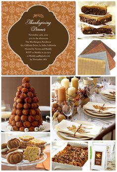 Thanksgiving Inspiration Ideas and Recipes AH: look at that cinnamon ball tree-yes pls!