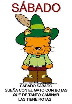 dias de la semana 6 Bart Simpson, Bowser, Spanish, Classroom, Teaching, Songs, School, Day, Ideas Para