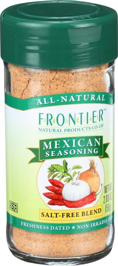 Frontier Herb Mexican Seasoning Blend - 2 Oz In the mood for Mexican? An array of rich spices gathers around chili peppers for authentic Mexican flavor in this convenient blend. A great addition to grains, beans, and vegetables for Mexican fare Authentic Mexican Recipes, Mexican Food Recipes, Mexican Cooking, Low Sodium Diet, Low Carbohydrate Diet, Low Cholesterol, Low Sodium Recipes, Low Carb Meal Plan, Recipes