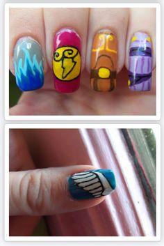 Hercules inspired nail art  http://megsmanicures.blogspot.com/2013/09/disney-series-hercules.html?m=1