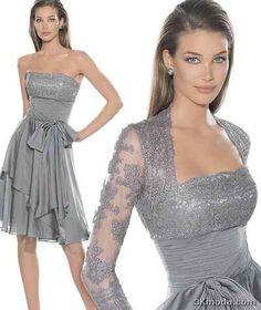 nice Gri Abiye Elbise Modelleri 2014