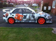 An interesting DC-themed Subaru!