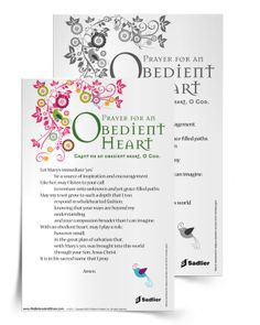 We invite you to download a Prayer for an Obedient Heart to use at home or in your parish during Advent and throughout the year.