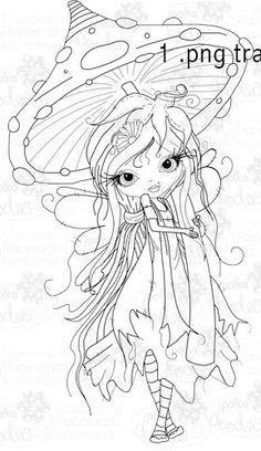 Octavia Moonfly Wistful Digital Stamp Craft Download - Polkadoodles Ltd