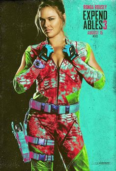 Due in theaters next month, Expendables starring UFC bantamweight champion Ronda Rousey is one of MMA's most anticipated film related projects. Ronda Rousey Wwe, Ronda Jean Rousey, Mel Gibson, Jason Statham, Harrison Ford, Sylvester Stallone, Kellan Lutz, Arnold Schwarzenegger, The Expendables Cast