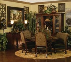 Tuscan style – Mediterranean Home Decor Dining Room Design, Dining Room Furniture, Dining Room Table, Furniture Design, Dining Nook, Dining Set, Tuscan Dining Rooms, Formal Dining Tables, Round Dining