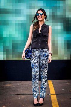 d9b210bdf flower pants, cute Blogueiras Famosas, Sites De Moda, Moda Blogueira, Tudo  Sobre