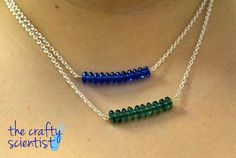 The Crafty Scientist: Bars of Beads Necklaces