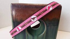 Country Western Dog Collars in Pink or Brown Pet Clothing