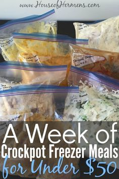 Are you tempted to grab fast food on busy school nights? If you have a supply of freezer ready for crockpot meals no more weeknight fast food. Slow Cooker Freezer Meals, Dump Meals, Make Ahead Freezer Meals, Freezer Cooking, Crock Pot Cooking, Slow Cooker Recipes, Easy Meals, Cooking Recipes, Healthy Recipes