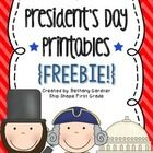 This mini-unit is full of fun printables you can use with your class to learn about President's Day!  Math, literacy, and just-for-fun activities a...