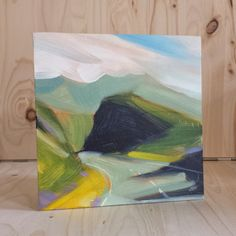6x6 inch Oil painting on board. The roads around the Isle of Skye are full of lovely twists n turns that reveal new scenes at every corner