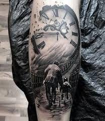 Znalezione obrazy dla zapytania stairs to clock tattoo Hook Tattoos, Daddy Tattoos, Watch Tattoos, Family Tattoos, Sexy Tattoos, Body Art Tattoos, Girl Tattoos, Tattoos For Guys, Sleeve Tattoos