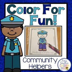 Two FREE Community Helpers Color For Fun coloring pages, a male firefighter and a female firefighter for your classroom FUN! Community Helpers Kindergarten, Community Helpers Activities, Fall Coloring Pages, Coloring Books, Parent Volunteers, Classroom Management Tips, 2nd Grade Teacher, Social Studies Resources, Writing Lessons