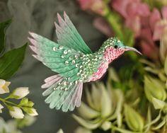 "Купить брошь - птица колибри ""фруктовый лед"" - колибри, птица, птичка, пташка, миниатюра"