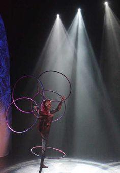 Hula Hoops act.