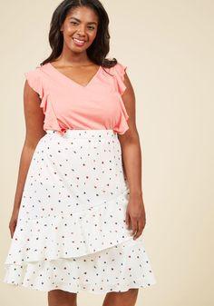 Undeniable Allure A-Line Skirt in Rosebud